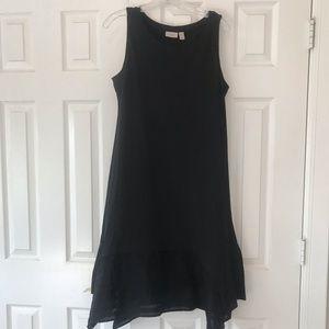 C6 LOGO Black Scarf Tank Dress MP